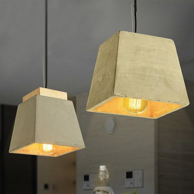 Lukloy Nordic Cement Vintage Lighting Fixture Lamps Modern Pendant Industrial Kitchen Light Fixture Dining Room Lamp Luminaire цена