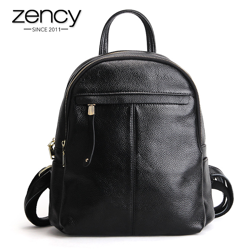 New Fashion Brand Women Genuine Leather Backpack Women's Backpacks for Teenage Girls Ladies Bags with Zippers School Bag Mochila new arrival black genuine leather women backpack for teenage girls school bag fashion travel ladies shoulder bags bolsas mochila