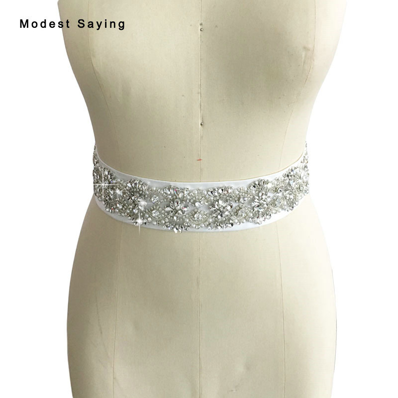 Real Photo Luxury Pearls Bridal Belts with Crystal Wedding Sashes 2017 Rhinestone ceinture femme strass Wedding Accessories BS77