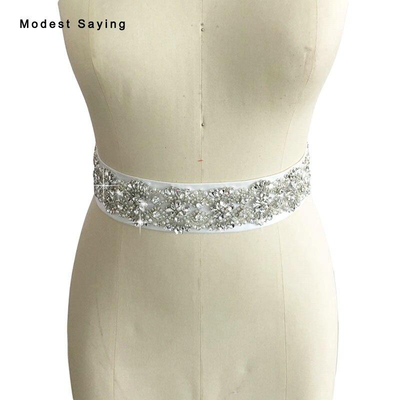 Real foto de lujo perlas cinturones de novia con cristal Fajas 2017  rhinestone ceinture Femme strass Accesorios DE BODA bs77 4aad31617e6e