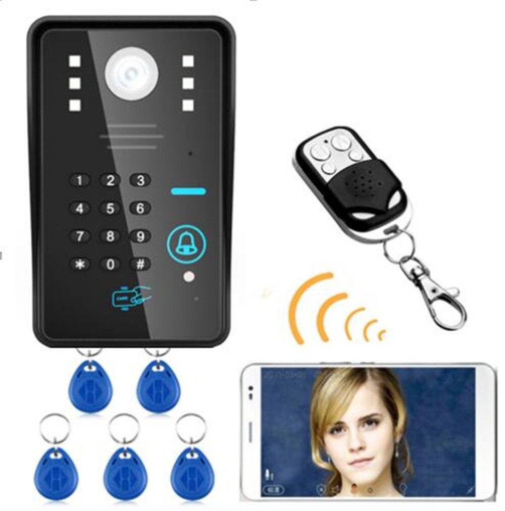 720p Wireless Intercom Doorbell Password/ID Card Remote Control Video Door Phone 700tvl hd id card password id card password door access control for wired video door phone