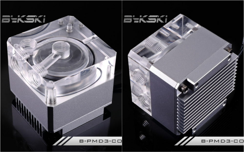 Bykski B-PMD3-COV Water Cooling Pump with Heatsink 500L DDC Gray bykski b pump pav water cooling pump with heatsink 300l