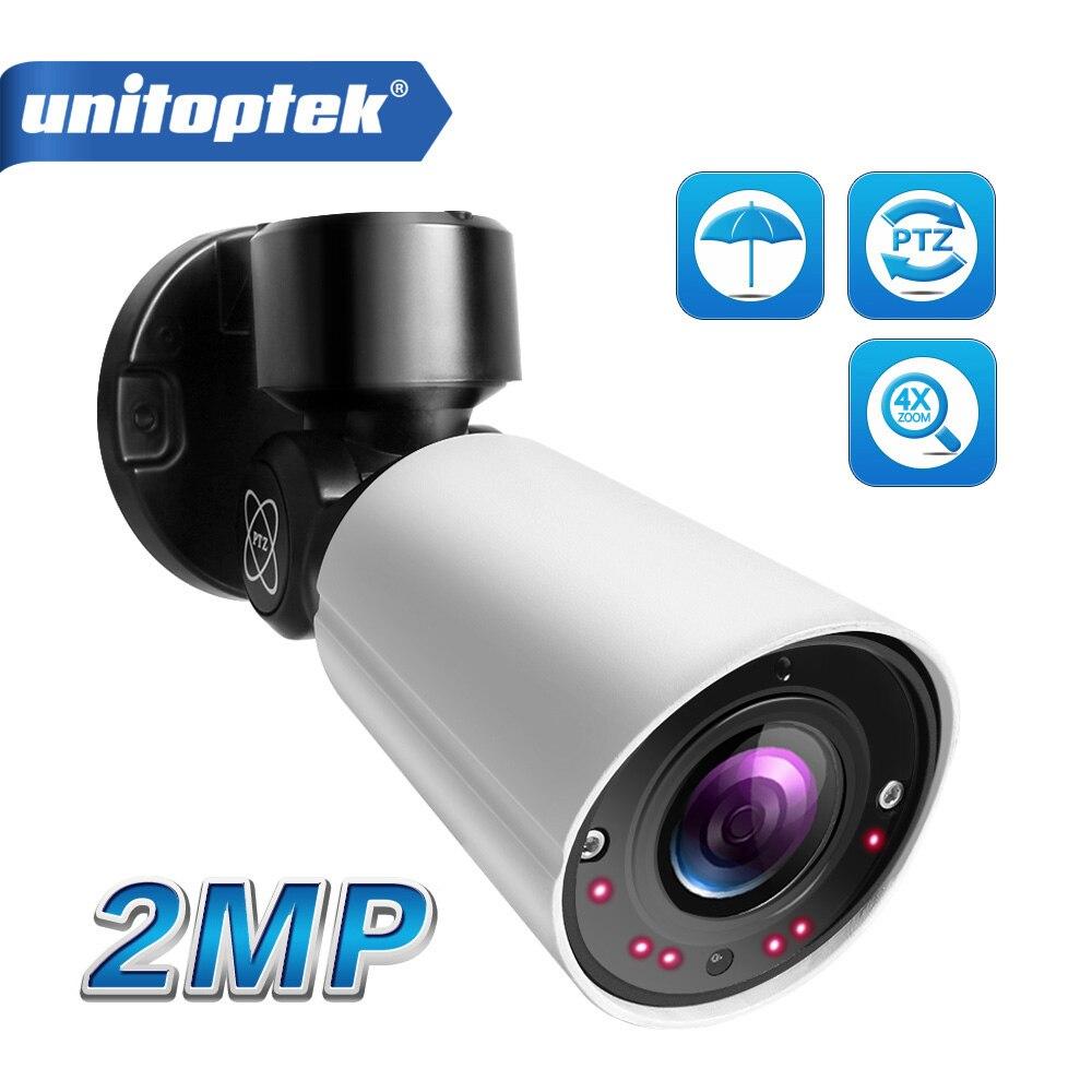 HD 1080P 2MP Mini Bala IP Câmera PTZ Ao Ar Livre À Prova D' Água 4X 50m Visão Nocturna do IR CCTV Zoom Óptico câmera de segurança POE P2P 48V