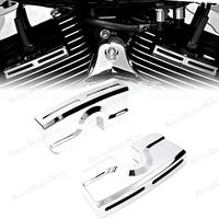 Chrome Spark Plug Head Bolt Covers For Harley Dyna Softail Touring Twin Cam 99 17 Model