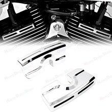 Chrome świeca zapłonowa śruba z łbem pokrywy dla Harley Dyna Softail Touring bliźniacza kamera 99 17 Model