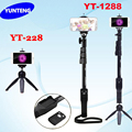 Trípode 4 en 1 bluetooth portátil selfie extensible handheld palillo monopod y yunteng yunteng 1288 228 mini trípode para móviles teléfono