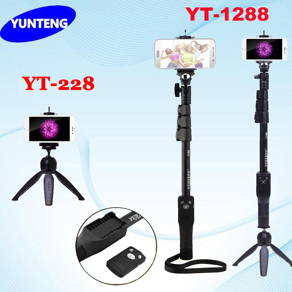 Prix pour Trépied 4 en 1 bluetooth portable extensible poche selfie bâton yunteng 1288 manfrotto & yunteng 228 mini trépied pour mobile téléphone