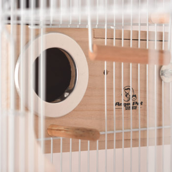 Foldable Metal Parrot Villa Bird Cage Thrush Starling Parrot Cage Three-story Heightened Bird Building Upgraded Version 46*36*93 4
