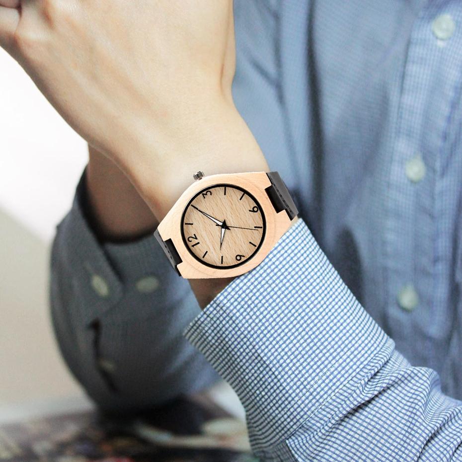 Creative Full Natural Wood Male Watches Handmade Bamboo Novel Fashion Men Women Wooden Bangle Quartz Wrist Watch Reloj de madera 2017 (63)