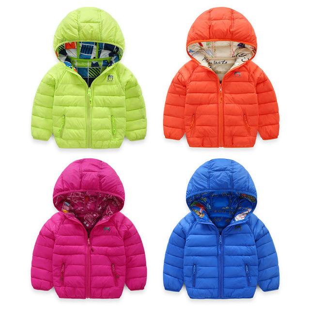 Baby Winter Jacket 2019 Casual Autumn Jacket Coat Reversible Clothes Kids Warm Floral Hooded Children Outerwear Both Sides Wear