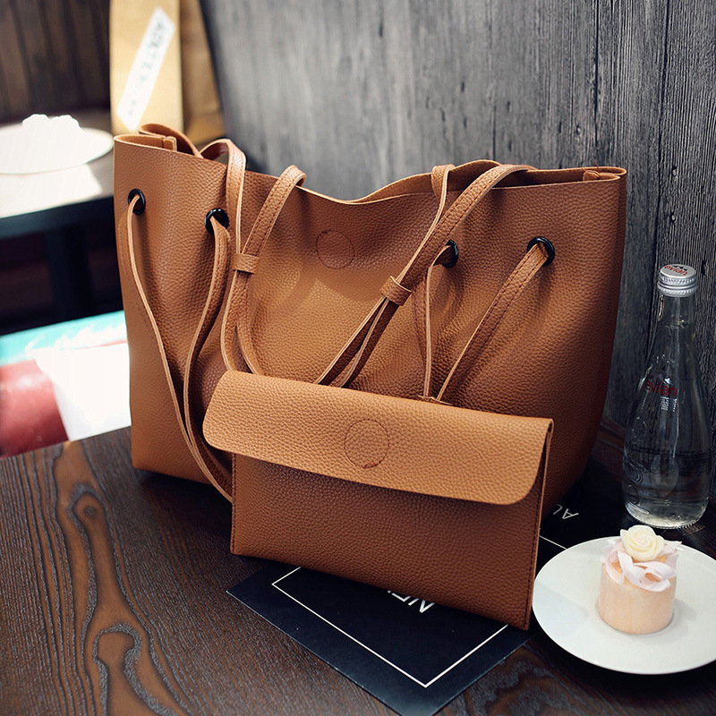 High Quality Lady Pu Leather Bags Handbags With Famous Brands Design Casual Big Size Women Trunk Tote Designer Shoulder Bag F502 casual women s shoulder bag with beauty print and pu leather design