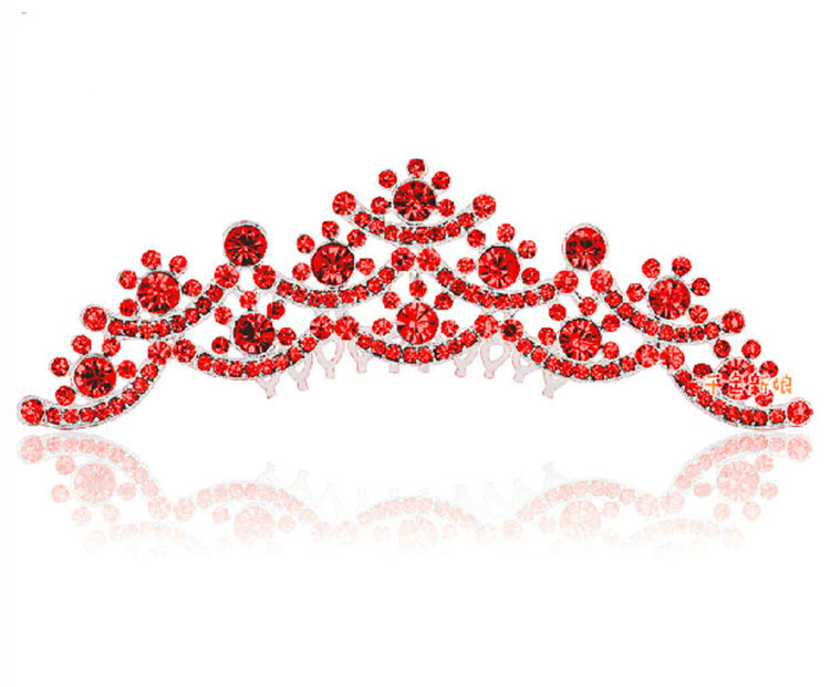 HIMSTAORY Ασημί / Κόκκινο ΝΕΟ Γάμος Νυφικό - Κοσμήματα μόδας - Φωτογραφία 4