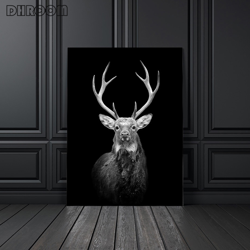 HTB1vYJLXUGF3KVjSZFvq6z nXXa9 Canvas Painting Animal Wall Art Lion Elephant Deer Zebra Posters and Prints Wall Pictures for Living Room Decoration Home Decor