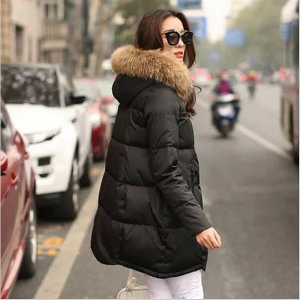 Coat Jacket Hooded Winter Jacket For Women Parkas Mujer New Women's Jacket Fur Collar Outerwear Female Plus Size 5xl #5