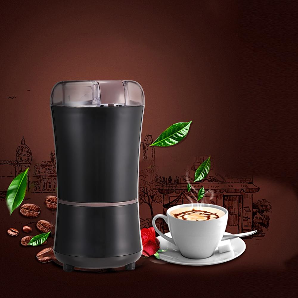 Haushalt 400 W Elektrische Kaffeemühle Bohnen Trockenen Schleifen Maschine 304 Edelstahl Klinge Reinigung Pinsel Küche Appliance