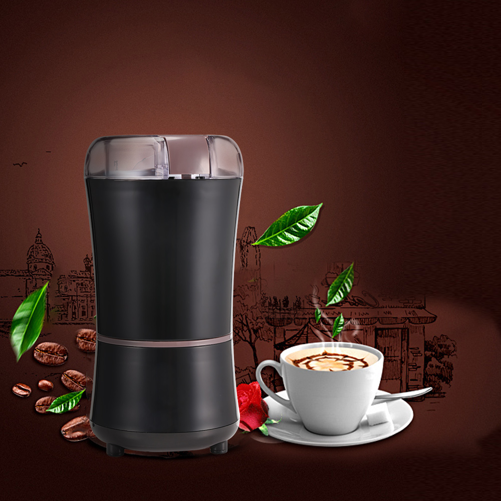 Household 400W Electric Coffee Grinder Beans Dry Grinding Machine 304 Stainless Steel Blade Cleaning Brush Kitchen Appliance брошь patricia bruni patricia bruni mp002xw191iw