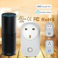 WIFI Smart Socket Smart Switch Socket Amazon Alexa Voice Control US UK EU Smart Socket