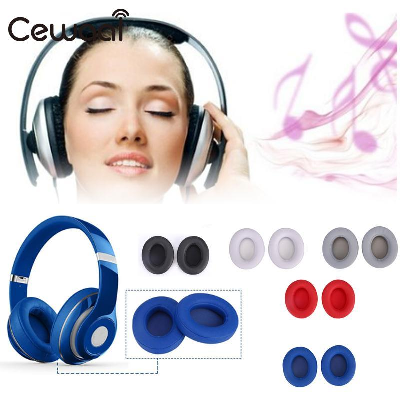 Cewaal 1 pair 2.0 Wireless Replacement Pad Ear Cup Plug For Earphone Headset Comfort Professional headphone earphone Replacement replacement sponge ear pad cushion for monster beats pro detox headphone headset