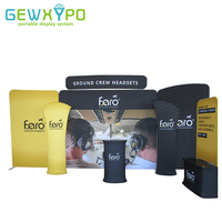 20ft Exhibition Solution High Quality Pillow Case Style Tension Fabric Display Backdrop Banner Stand With Single Side Printing