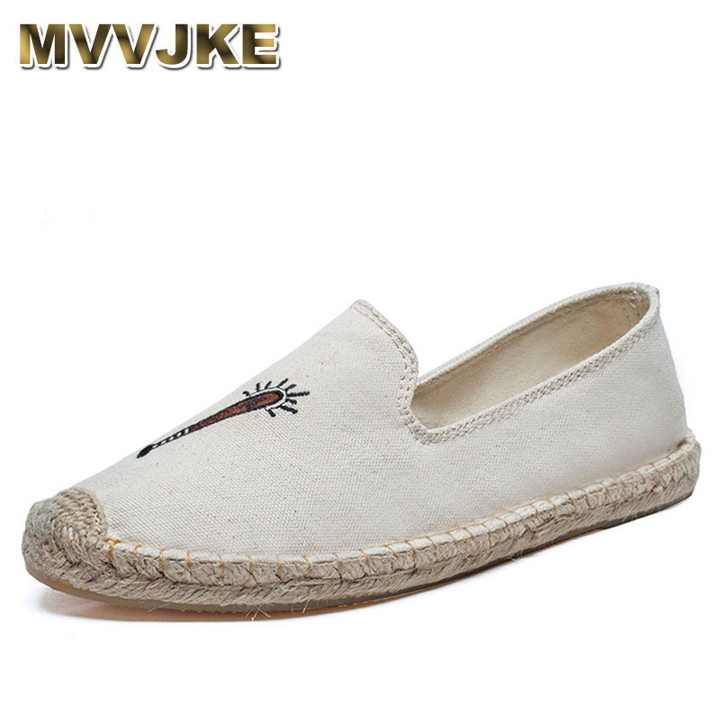 MVVJKE 2018 Women Flamingo Shoes Canvas Shoes Woman Causal Shoes Comfortable Slip On Fabric Flats Embroider Shoes Women Slipony yeerfa fashion women loafers canvas shoes slipony oxford flats heels breathable slip on comfortable mix colors white black shoes