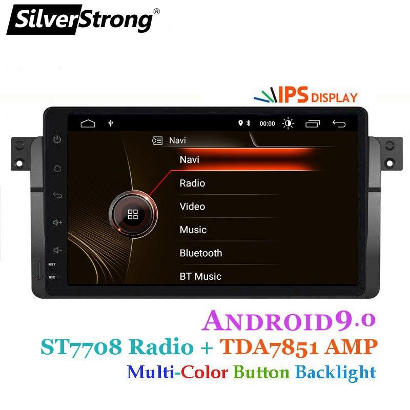 SilverStrong Android9.0 voiture DVD GPS Radio magnétophone stéréo pour BMW E46 318 320 3 séries lecteur dvd récepteur navigation