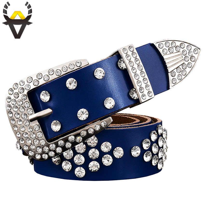 Designer Fashion Rhinestone Buckle and Belt Strap