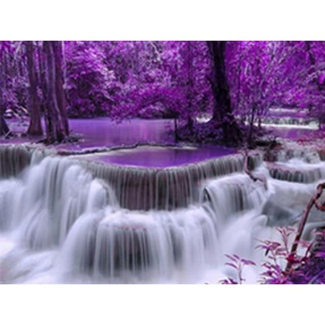 3d Алмазная вышивка водопад Пейзаж Вышивка Из алмазной мозаики вышивки крестом Наборы для вышивки бисером домашний декор zx