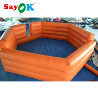 6m Outdoor entertainment small soccer field inflatable football field for adults/kids