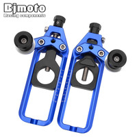 Bjmoto 5colors motorcycle Tensioner Catena Rear Axle Spindle chain Adjusters with Spools For Yamaha YZF R1 2005