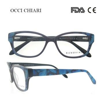 fbae98c561 Gafas de moda OCCI CHIARI para hombres y mujeres, lentes para empollones, gafas  ópticas médicas, montura transparente para gafas W-COL