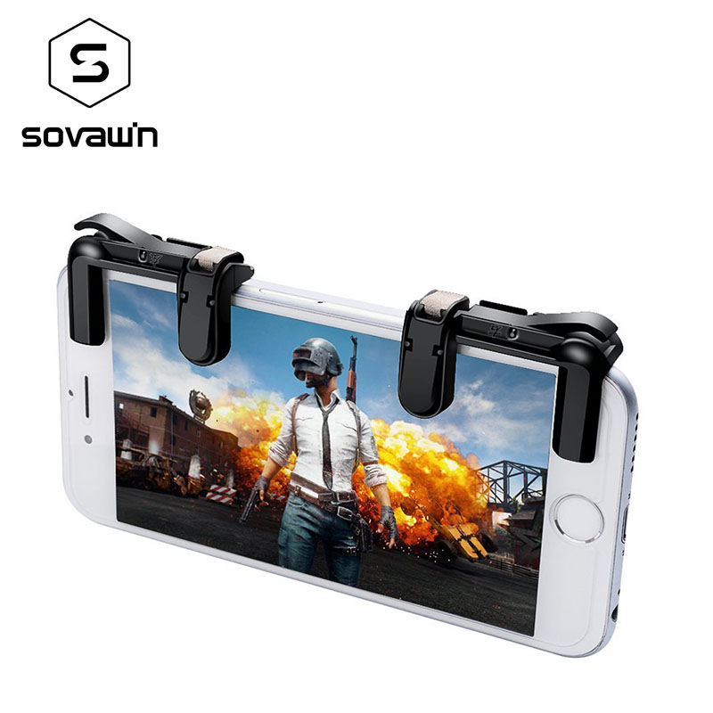 Mobile Phone Shooting Game Fire Button Aim Key Button L1 R1 Cell Phone Game Shooter Controllers PUBG MX for Android IOS Joystick