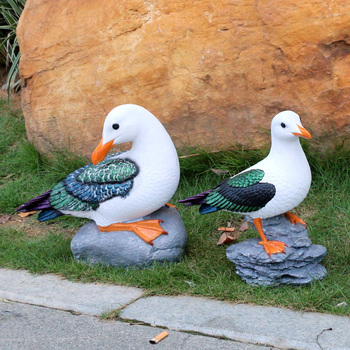 new arrival Environmentally resin painting seagull model handicraft,Pastoral garden decoration toy gift a0153