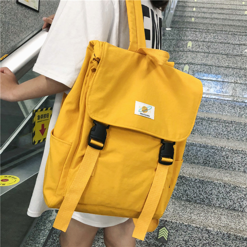 Waterproof Backpack Mochila Rucksack Travel-Bag School-Bags Canvas Teenage Girls Women title=