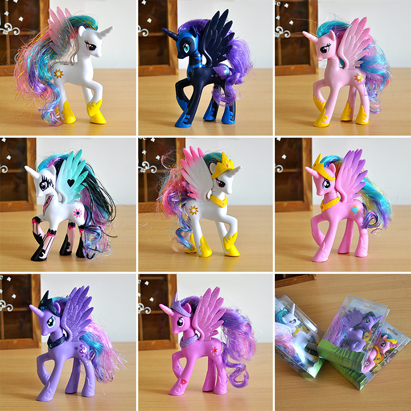 2018 Explosion Models 14CM Pony 12 Pony Girl Model Unicorn Cake Baking Doll Ornaments Doll(Opp Packaging)