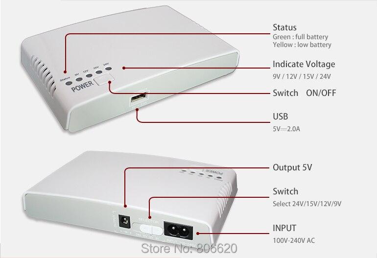 Mini Portátil UPS Com 110-240 V de