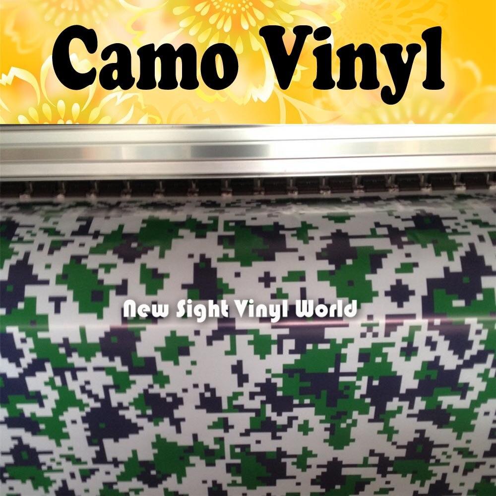 Цифровой камуфляж джунглей виниловая пленка большой цифровой зеленый тигр камуфляж виниловая автомобильная пленка без пузырей Размер: 1,50*30 м/рулон