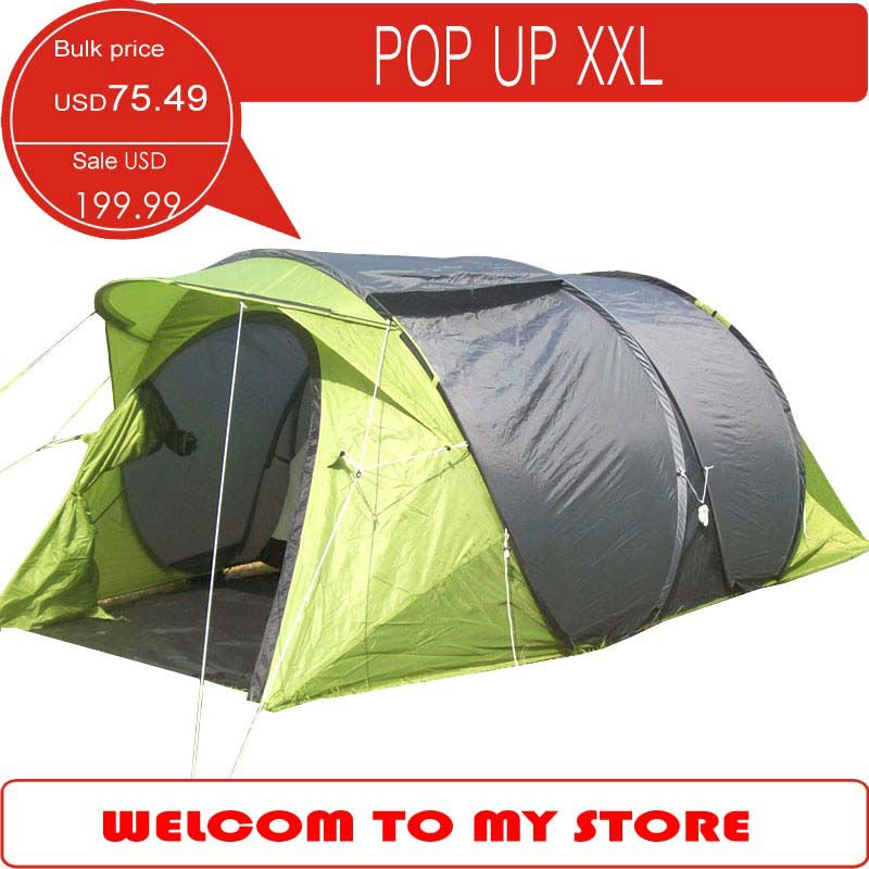 Large pop up c&ing tent 4 person family tent very special outdoor tent with large living room -in Tents from Sports u0026 Entertainment on Aliexpress.com ...  sc 1 st  AliExpress.com & Large pop up camping tent 4 person family tent very special ...