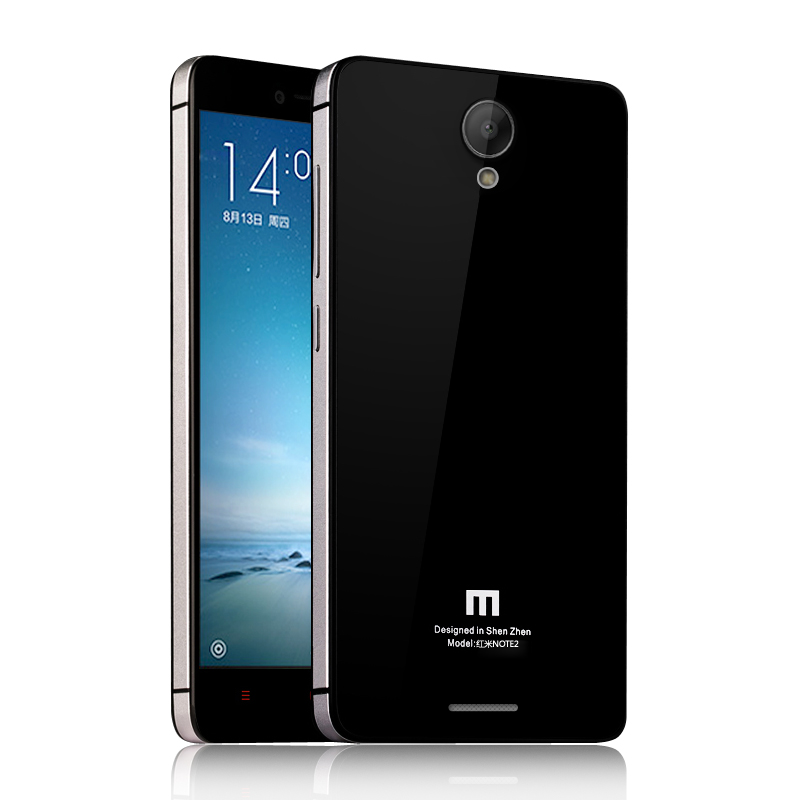 For Xiaomi Redmi Note 2 case Aluminum Metal Frame, Tempered Glass and PC battery back cover for Xiaomi Redmi Note2
