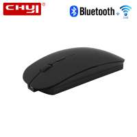 CHYI Wireless 2 4Ghz Bluetooth 4 0 Dual Mode Mouse 1600 DPI Ultra Thin Ergonomic Portable