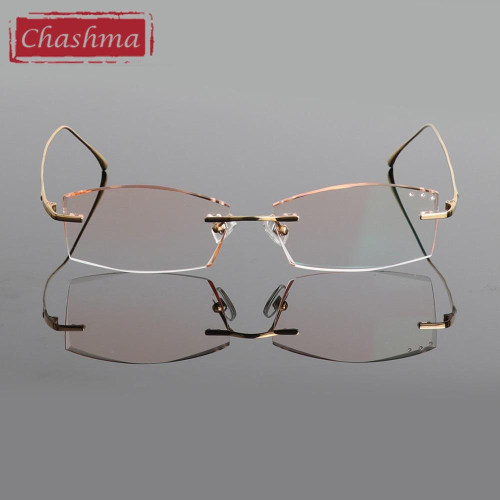 Chashma Blagovne znamke Titanium Modna moška očala Diamant obrezana - Oblačilni dodatki - Fotografija 4