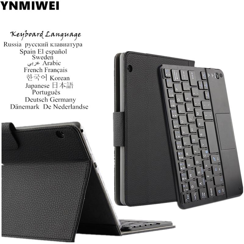 Für Huawei MediaPad T3 10 Bluetooth Tastatur Ledertasche Für Huawei Honor Spielen Pad 2 9,6 zoll AGS-L09 W09 Mehrsprachige sprache