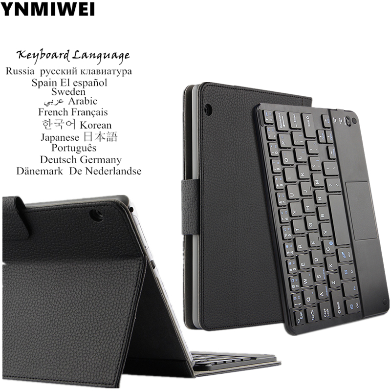 For Huawei MediaPad T3 10 Bluetooth Keyboard Leather Case For Huawei Honor Play Pad 2 9.6 inch AGS-L09 W09 Multilingual language