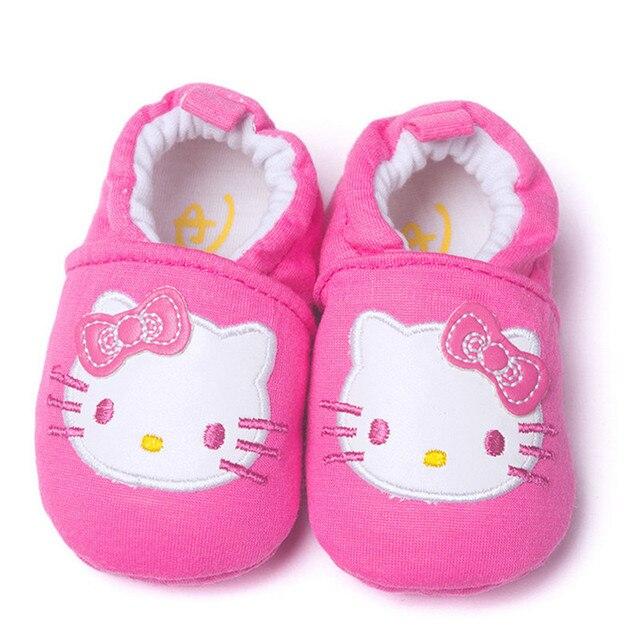 Новая Коллекция Весна Hello Kitty Мальчики Малышей Обувь Гетры Девушки bebe Обувь Мягкой Подошвой Хлопок Минни Обувь Для Малышей Первые Ходунки