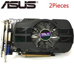 Original ASUS 2Pieces Video Card GTX 750 Ti Graphics Cards for nVIDIA Geforce GTX 750Ti 2GB 128Bit GDDR5 Used VGA Cards Hdmi Dvi