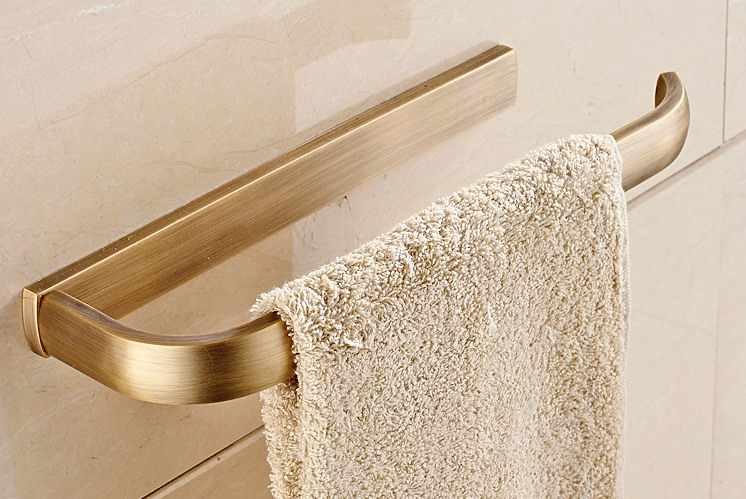 קיר רכוב בציר רטרו עתיק פליז חד אמבטיה בר מגבת רכבת אבזר mba178