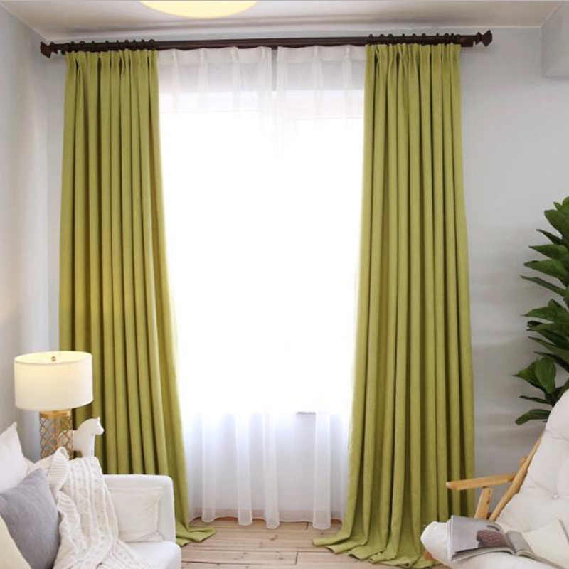 High Shading Solid Linen Thick  Shade Curtains For Kids Living Room Bedroom Blackout Cloth Summer Romantic Cortinas  WP199 *20
