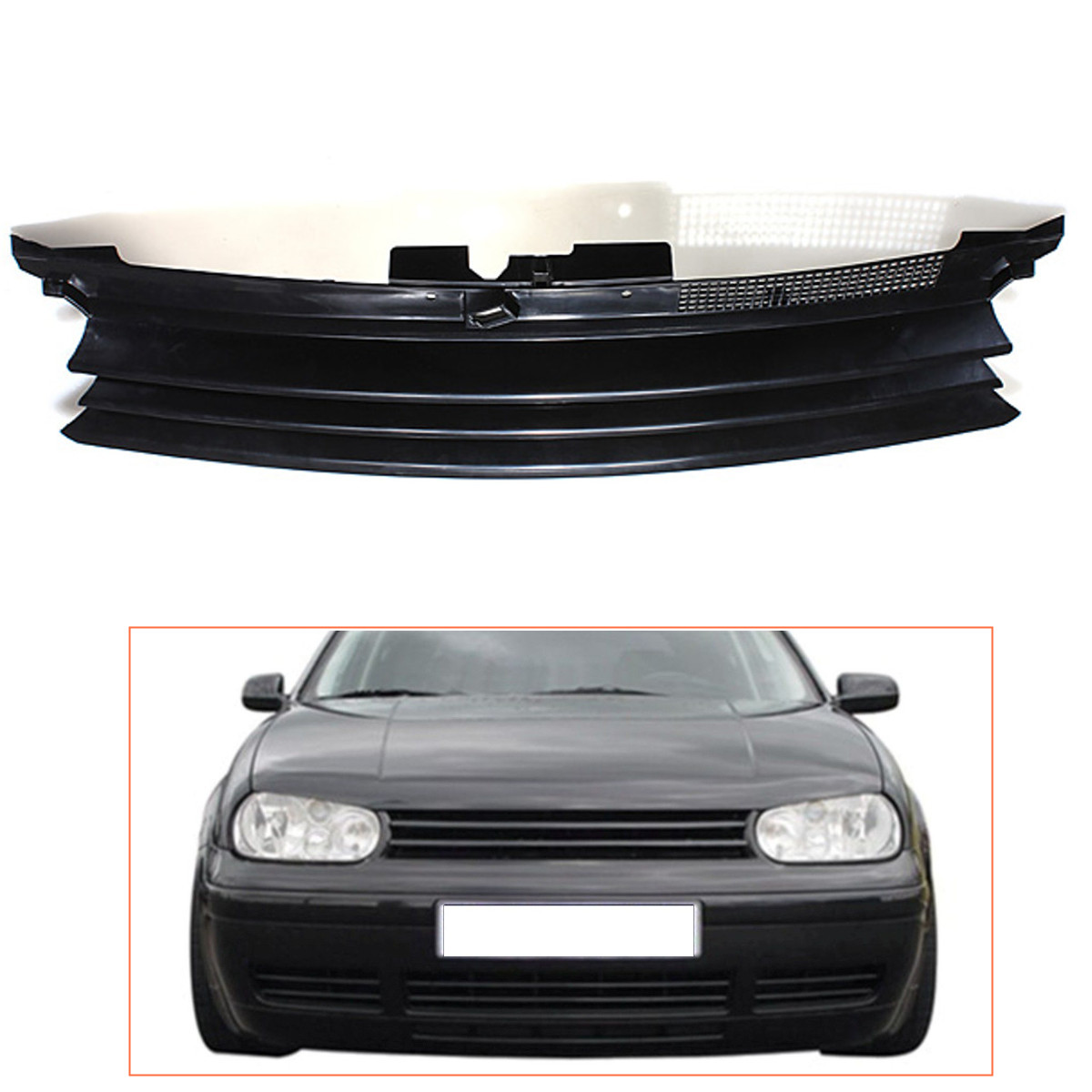 Badgeless Debadged Car Front Hood Sports Grille Grill for VW GOLF 4 MK4 1997-2004