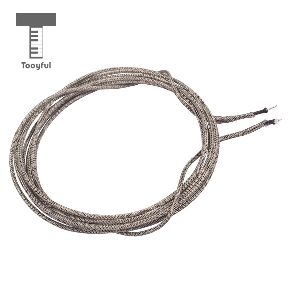 tooyful single conductor braided shield cable guitar circuit wire pickup wire 22awg 300cm length. Black Bedroom Furniture Sets. Home Design Ideas