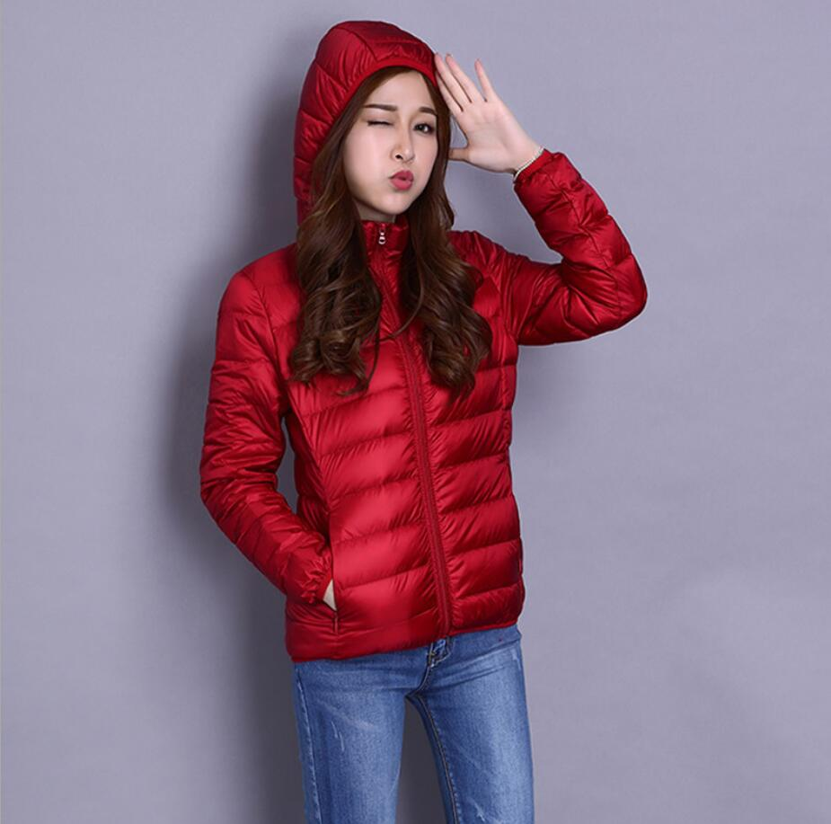 2019 New Women Casual Autumn Winter   Coat   Ultra Light   Down   Jacket Female Short White Duck   Down   Jacket