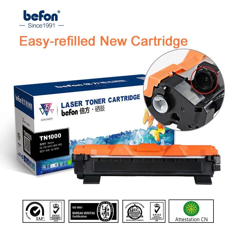 Befon Cartucho de Toner Compatível para O Irmão TN1000 TN1075 TN1060 TN1030 TN1050 TN1070 HL1110 TN1095 TN 1000 1030 1075 de Impressora